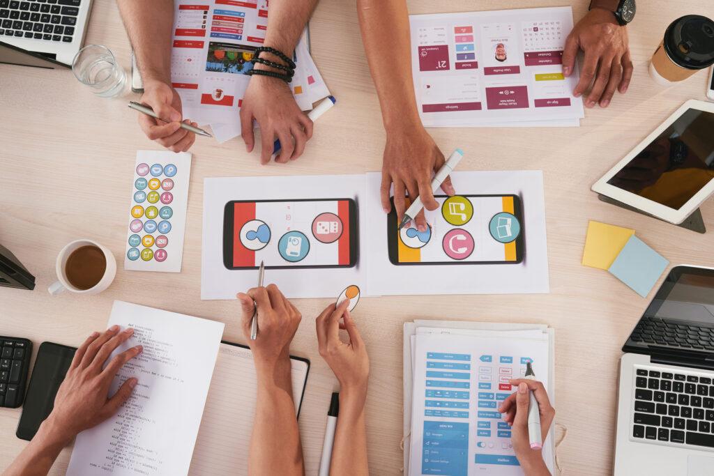 Design digital sendo aplicado para experiência do usuário