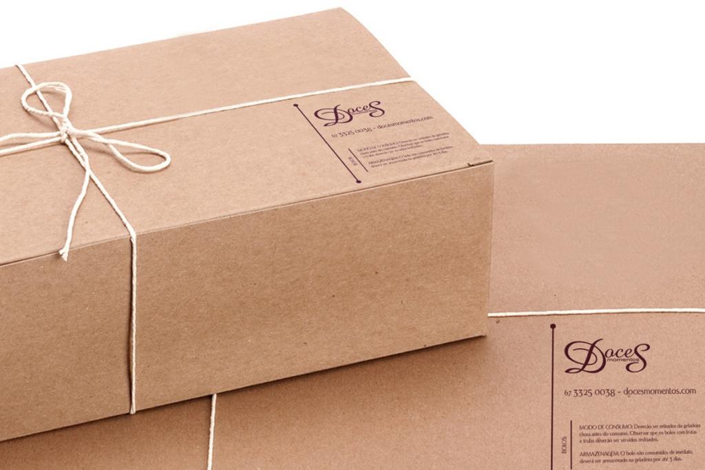 caixa de embalagem criada com aplicação do design de produto