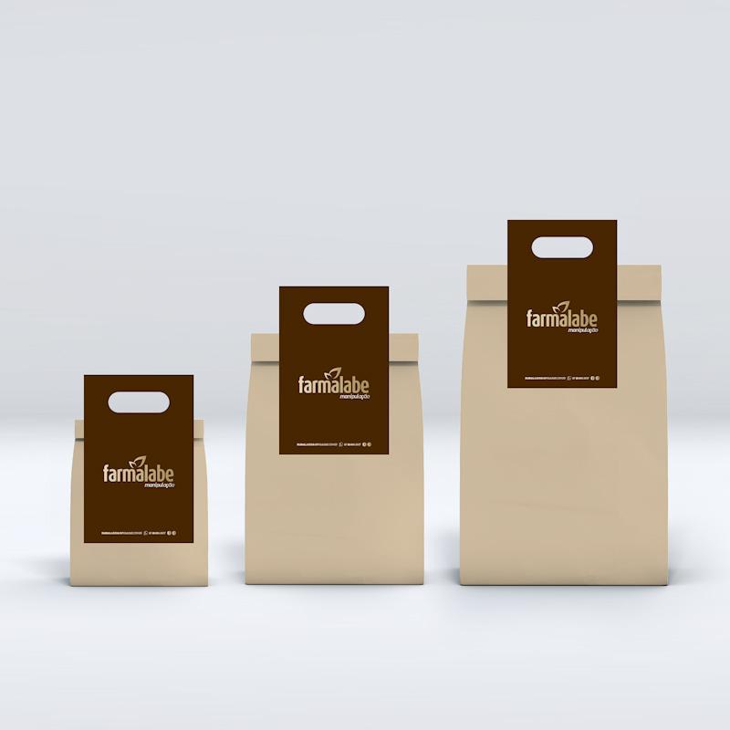 linha de sacos para entrega projetados com design de produtos