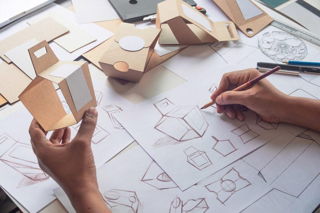 design de produto sendo executado na prática